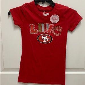 Girls San Francisco 49er shirt
